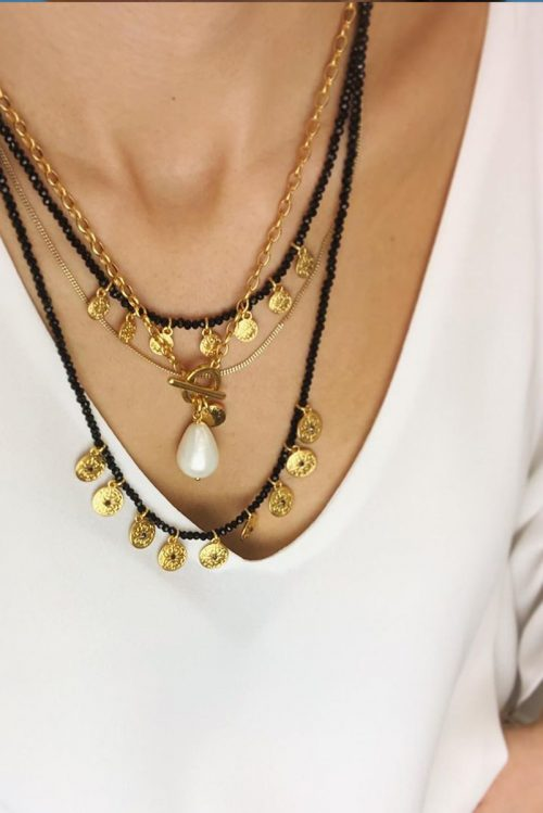 DROP SHAPED PEARL NECKLACE