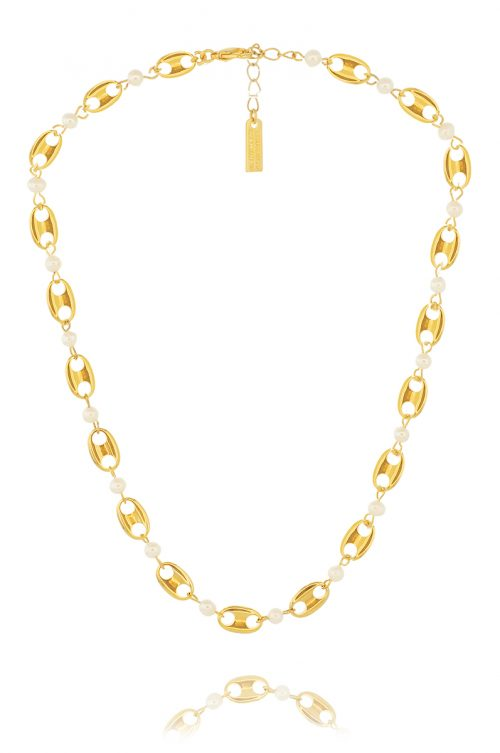 PEARLS & THETA NECKLACE