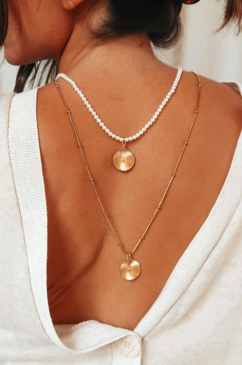 2 ROWS PEARLS & CHAIN