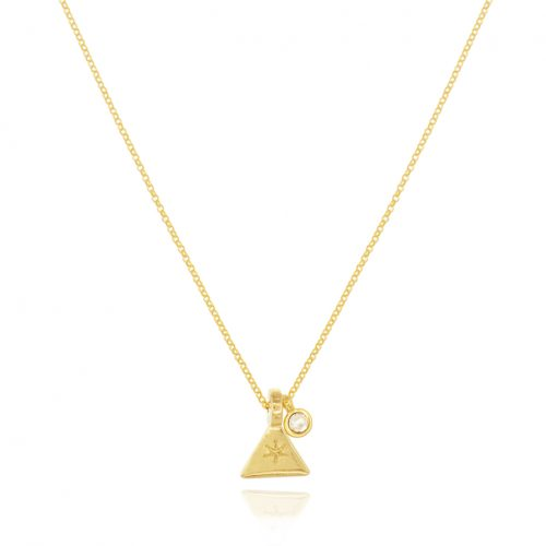 THE GOLDPLATED TRIANGLE NECKLACE WITH SWAROVSKI