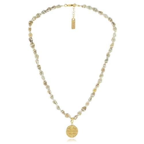 Necklace with natural shells & coin